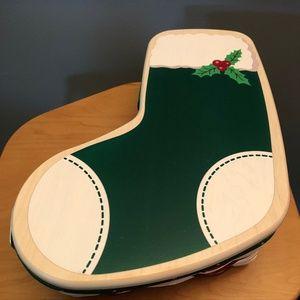 Longaberger 2014 Christmas Stocking Basket and Lid